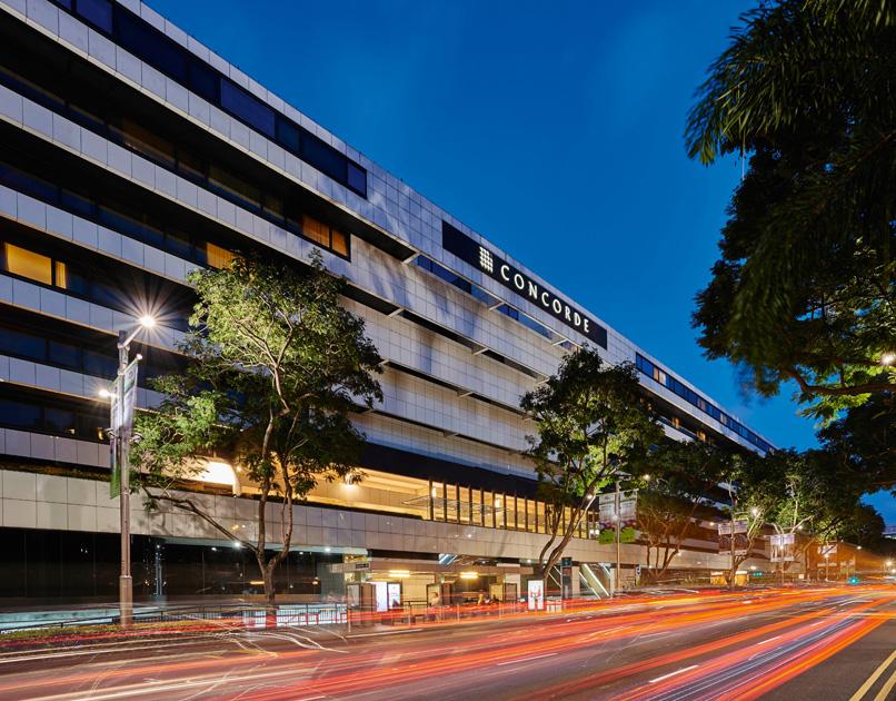 アクセスが便利なオーチャードロード沿いに建つホテル