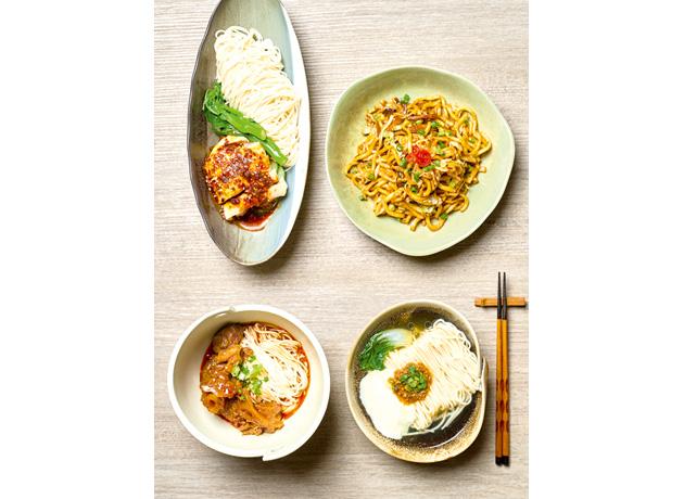 豊富な種類の麺メニュー