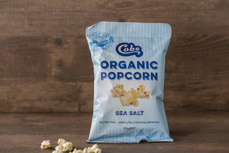 Cobs Organic sea salt popcorn