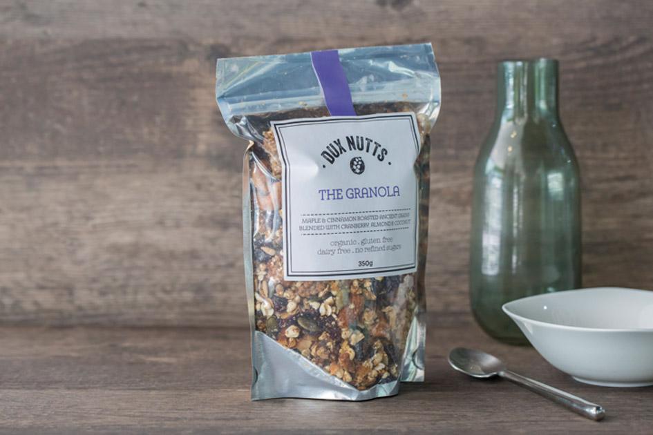 The dux nutts organic granola