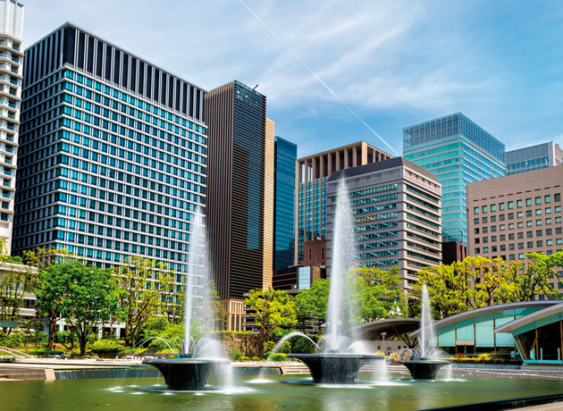 大手町周辺は緑や公園が多く、ビジネスパーソンの憩いの場となっている